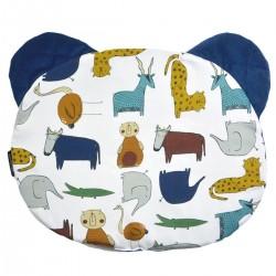 Teddy Pillow Navy In the Zoo - Velvet