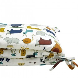 Bed Bumper 70x140cm - In the Zoo/Footprints