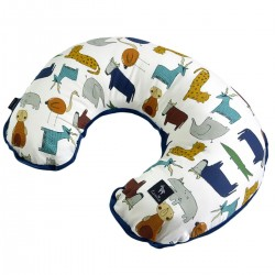 Breastfeeding Pillow Navy In the Zoo - Velvet