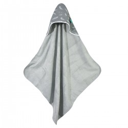 Bamboo Towel Grey Feathers