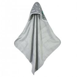 Bambusowy Ręcznik z Kapturem Grey Feathers