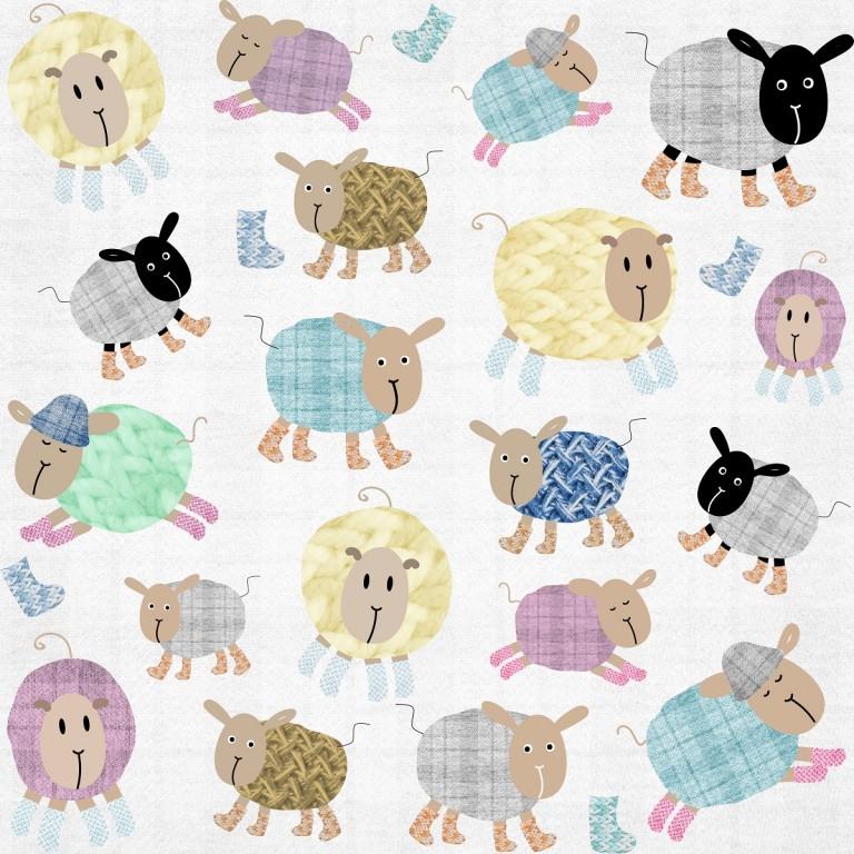 Maseczka Ochronna Cotton Sheep - Dziecięca (4-12lat)