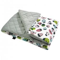 Preschooler Blanket 100x130cm Silver Ladybird - Velvet