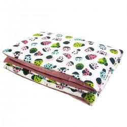 Preschooler Blanket 100x130cm Dusty Rose Ladybird - Velvet