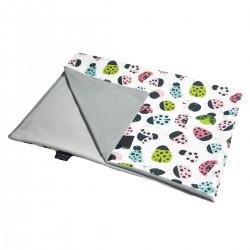 Newborn Blanket Light 60x70 Silver Ladybird - Velvet