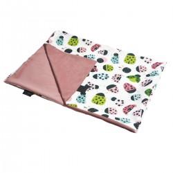 Medium Blanket Light 75x100cm Dusty Rose Ladybird - Velvet