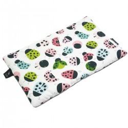 Medium Bed Pillow 25x40 Silver Ladybird - Velvet