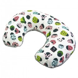 Breastfeeding Pillow Silver Ladybird - Velvet