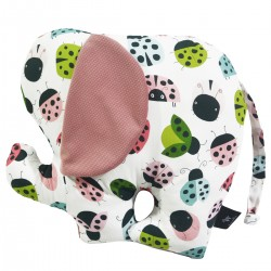 Lucky Guy Pillow Dusty Rose Ladybird