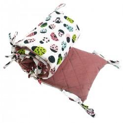 Ochraniacz do łóżeczka 60x120cm - Velvet Dusty Rose Ladybird