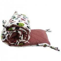 Ochraniacz do łóżeczka 70x140cm - Velvet Dusty Rose Ladybird