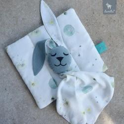 Snuggle Baby Rabbit 100% Bamboo Khaki Fly Away