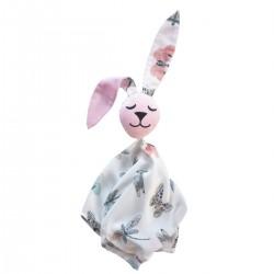 Snuggle Baby Rabbit 100% Bamboo Pink Wings