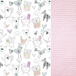 Medium Blanket Light 75x100cm Pink Tender Friends - Velvet