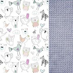 Medium Blanket Light 75x100cm Grey Tender Friends - Velvet