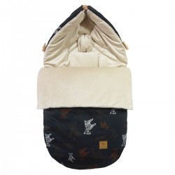 Stroller Bag S/M (0-1 year) Latte Follow the Zebra Velvet