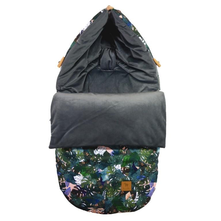 Stroller Bag S/M (0-1 year) Dark Grey Rainforest Velvet
