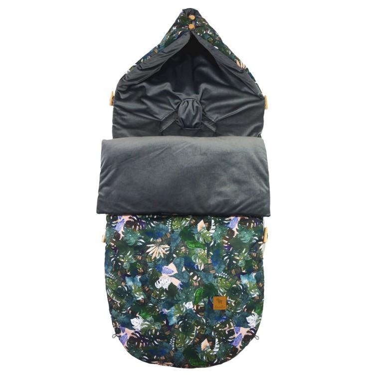 Śpiworek Dark Grey Rainforest Velvet L/XL (1-3 lat)