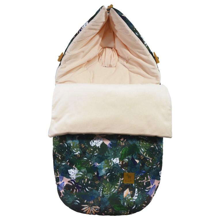 Stroller Bag S/M (0-1 year) Peach Rainforest Velvet