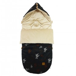 Stroller Bag Latte Follow the Zebra Velvet L/XL (1-3 years)