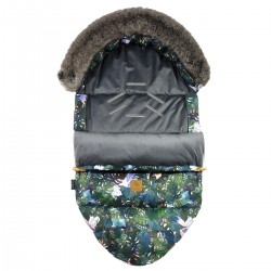 Stroller Bag with Fur S/M (0-1 year) Dark Grey Rainforest Velvet