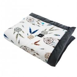 Newborn Blanket 60x70cm Dark Grey Sweet Dreams - Velvet