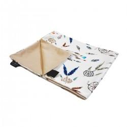 Medium Blanket Light 75x100cm Latte Sweet Dreams - Velvet