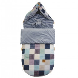 Stroller Bag Grey Queen Zebra Velvet L/XL (1-3 years)