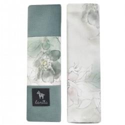 Ochraniacze na pasy Khaki Flower Jam - Velvet