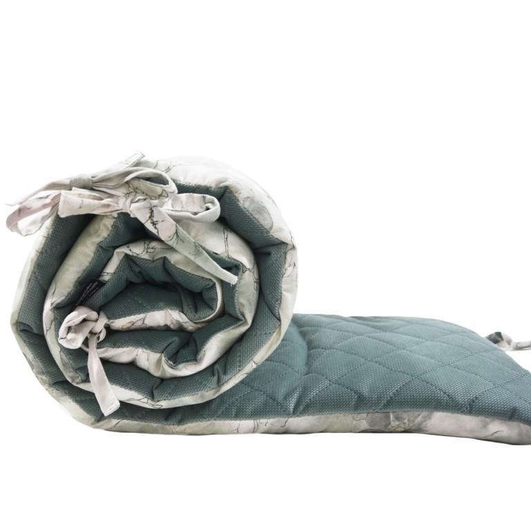Ochraniacz do łóżeczka 60x120cm - Velvet Khaki Flower Jam