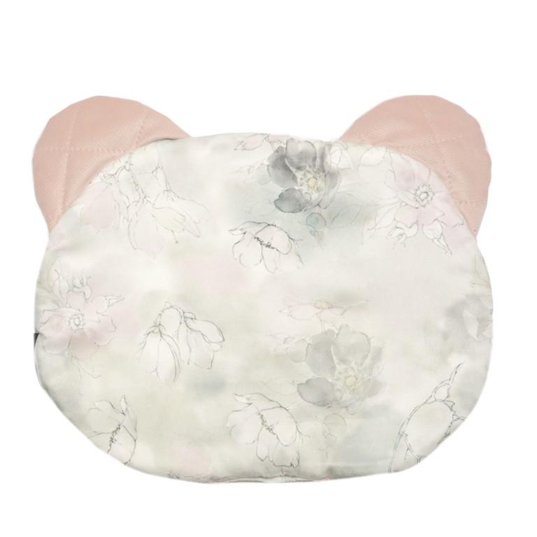 Poduszka Miś - Velvet Dusty Rose Flower Jam