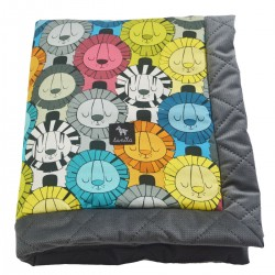 Kocyk Velvet 60x70 Dark Grey Lazy Leo