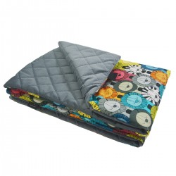 Kocyk Velvet 100x130 Dark Grey Lazy Leo