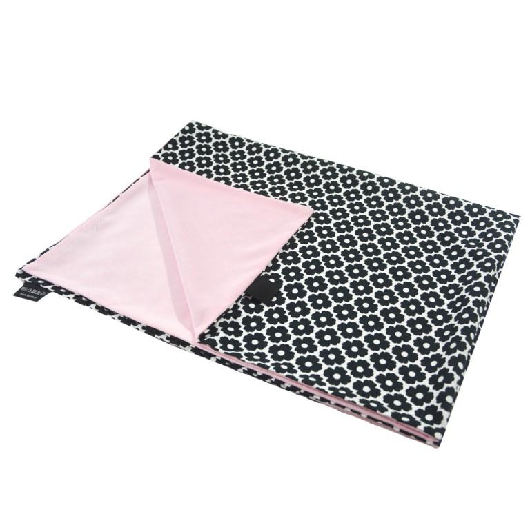 Kocyk Letni Pink Blossom 60x70cm - Velvet