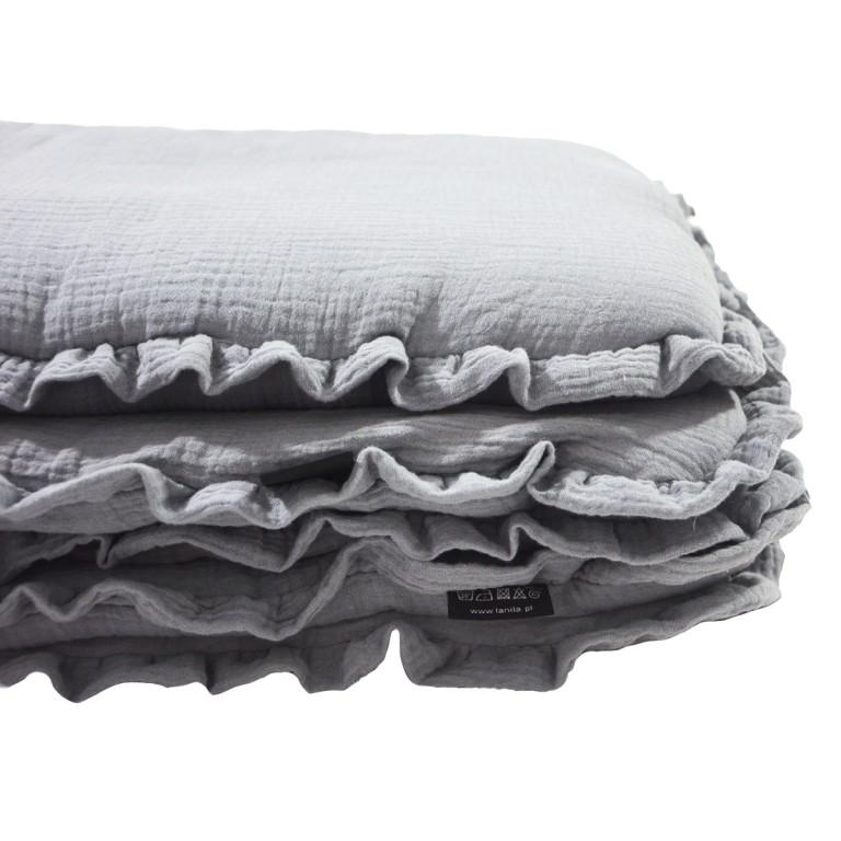 Pościel z Wypełnieniem Cotton Muślin Silver 100x130cm