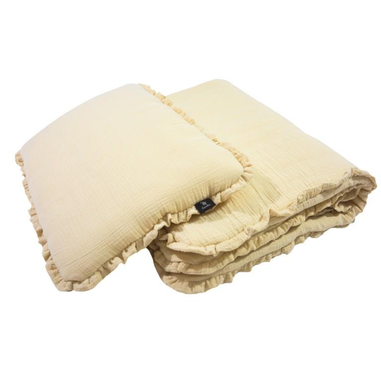 Pościel z Wypełnieniem Cotton Muślin Sand 100x130cm