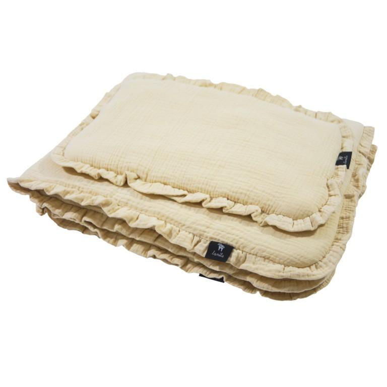 Pościel z Wypełnieniem Cotton Muślin Sand 70x100cm
