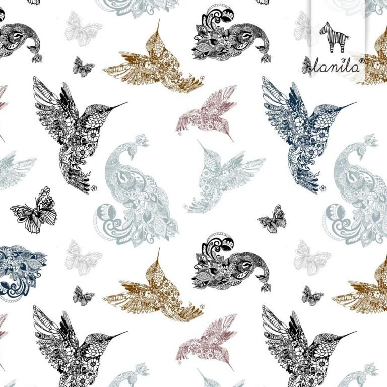 Pościel bawełniana Mandala Birds 90 x 120cm