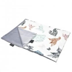 Kocyk Letni Grey Mandala Birds 75 x 100cm - Velvet