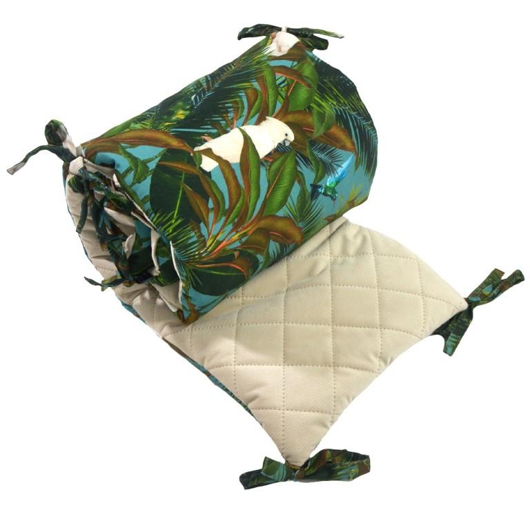 Ochraniacz do łóżeczka 60x120cm - Velvet Latte Tropical