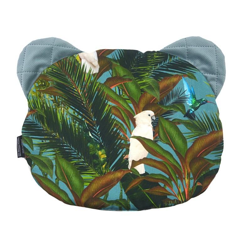 Poduszka Miś - Velvet Khaki Tropical