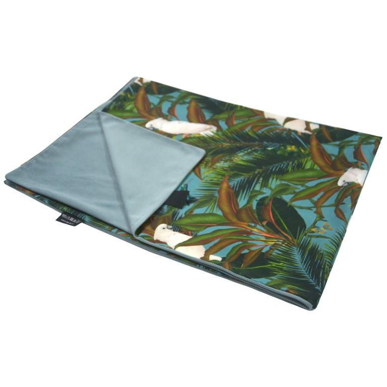 Kocyk Letni Khaki Tropical 75 x 100cm - Velvet