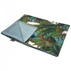 Kocyk Letni Velvet Khaki Tropical 100 x 130cm