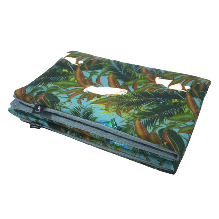 Kocyk Velvet 100x130 Khaki Tropical