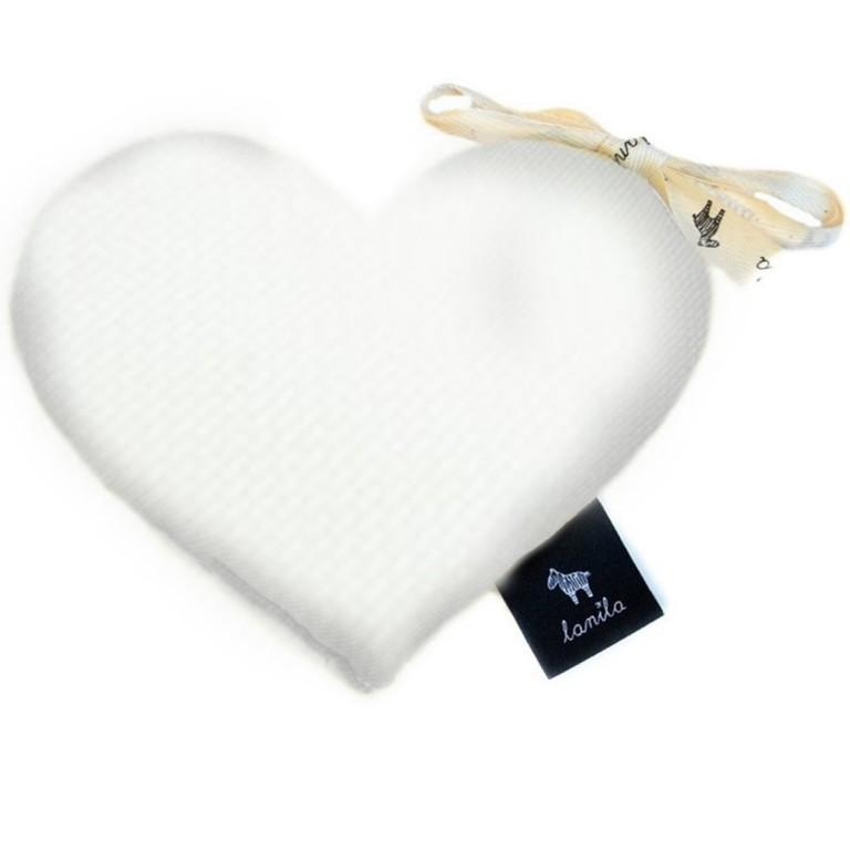 Mini Serduszko Velvet - White