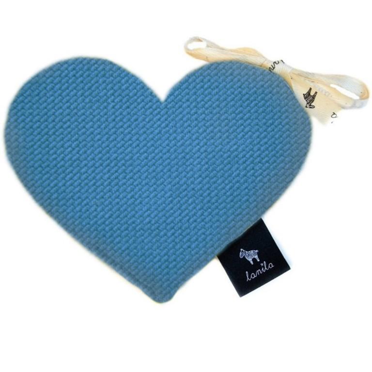 Mini Serduszko Velvet - Blue