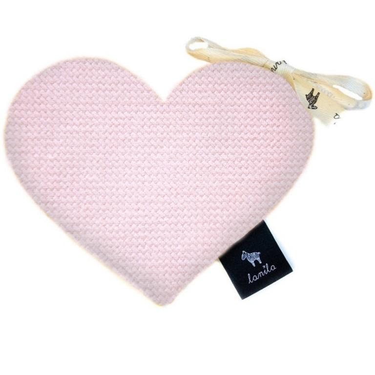 Mini Serduszko Velvet - Pink
