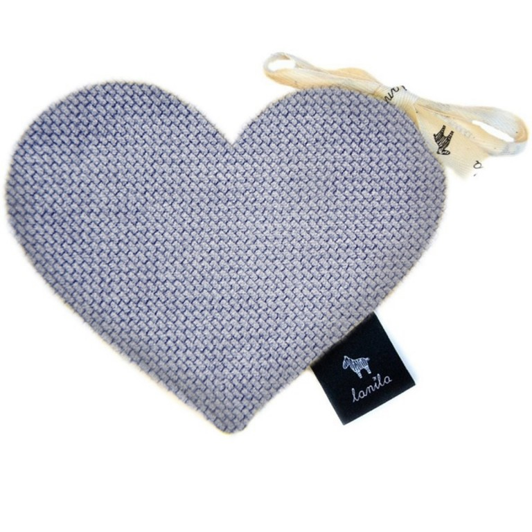 Mini Serduszko Velvet - Grey