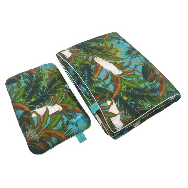 Bambusowa Pościel z Wypełnieniem Mint Tropical 100x135