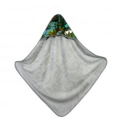 Bambusowy Ręcznik z Kapturem Grey Tropical